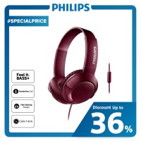 Philips BASS+ Headphone With Mic SHL 3075 - Red