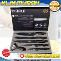 SALESTOCK. IDEALIFE IL 161 - CERAMIC KNIFE SET ANTI BAKTERI/Pisau KAYU