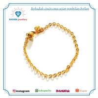 gelang emas asli rantai polos model baru