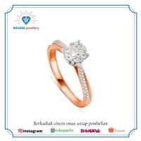 cincin berlian asli emas 750 berlian D031