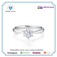 Cincin berlian cincin emas 750 original D015