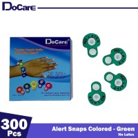 DoCare Alert Snaps Colored ( Green - No Latex ) 300 Pcs