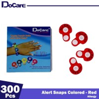 DoCare Alert Snaps Colored ( Red - Allergy ) 300 Pcs