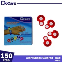 DoCare Alert Snaps Colored ( Red - Allergy ) 150 Pcs