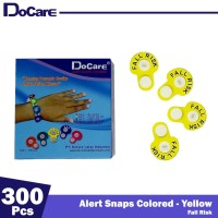 DoCare Alert Snaps Colored ( Yellow - Fall Risk ) 300 Pcs