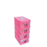 LACI MINI CABINET 4 SUSUN GREEN LEAF 7905 / RAK CONTAINER STORAGE BOX