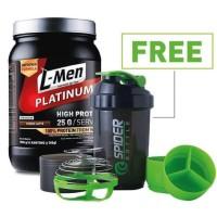 L-Men Platinum 800gr Whey Protein +FREE Spider Shaker Lmen