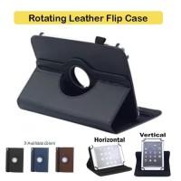 Advan Tab 8 / Gtab / 8001 Rotate Leather Flip Book Cover Case Casing - Cokelat
