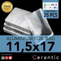Aluminium Foil 11,5x17 cm Kemasan Sachet Silver Bubuk Kopi Bumbu Teh