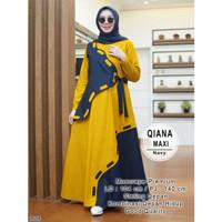 Maxi Dress Wanita /Gamis Dress Muslim-Maxi Qiana