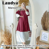Tunik Wanita Muslim/ Baju Atasan Tunik-laudya tunik
