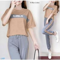 New Baju Setelan Wanita / Atasan & Celana -st blae