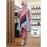Baju Setelan Wanita Muslim Atasan & Celana -set yonna