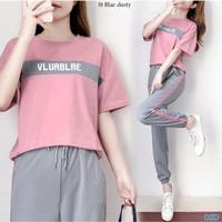 Baju Setelan Wanita Atasan & Celana Murah - st blae