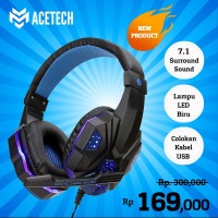 Headphone Headset Gaming LED Acetech 7.1 Champion SuperBass Smartphone