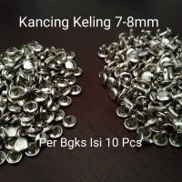 Kancing Keling 7-8mm Silver Model 2 Pieces - Per Bgks Isi 10 Pcs