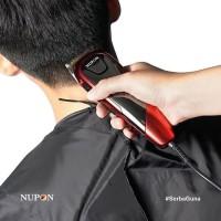 Hair Clipper Alat Cukur Rambut 10 Sepatu Cukur + Celemek NUPON NP-11