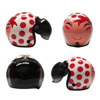 Helm Bogo / Helm Retro Igloo Josei Dot White Red L