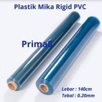 Plastik Mika Rigid Kaku Clear Bening Tebal 020 0,2 0.20mm Lebar 140cm