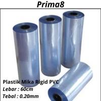 Plastik Mika Rigid Kaku Super Clear Bening Tebal 020 0.20mm Lebar 60cm