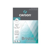 CANSON Bristol 250gsm A4 Extra Heavy Weight Bright White Drawing Pad