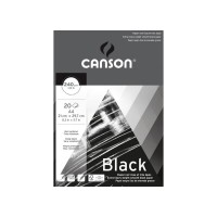 CANSON Black 240gsm A4 Extra Heavy Weight Drawing Pad