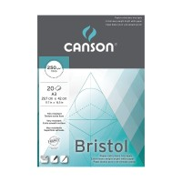 CANSON Bristol 250gsm A3 Extra Heavy Weight Bright White Drawing Pad