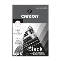 CANSON Black 240gsm A3 Extra Heavy Weight Drawing Pad
