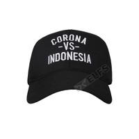 Elfs - Topi Baseball Twill Bordir Crna vs Indonesian Unisex Cap