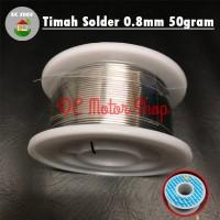 Timah Solder 0.8mm 50gram 50g Tenol Elektronik