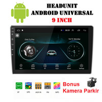 Headunit Android Universal 9 Inch Double Din Head Unit Tape Mobil