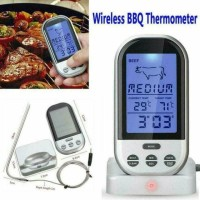 Food Thermometer Timer Alarm Wireless Makanan Minuman BBQ Meat Oven