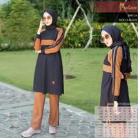 Baju Kaos Olahraga Wanita Muslimah Premium Branded Bahan Katun BMS 24