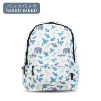 Tas Ransel Wanita Laptop Backpack Printing Origami / Ransel sekolah
