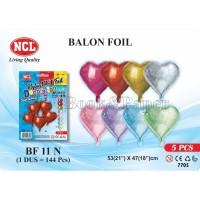 Balon Nylon Foil NCL BF-11A-N / Love Glitter Merah
