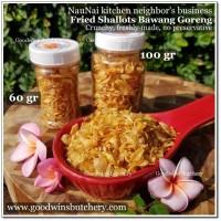 100gr bawang merah goreng garing enak jos CRUNCHY FRIED SHALLOT NAUNAI