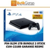 PS4 Slim SONY Playstation 4 Slim 1TB 2 Stick Garansi Sony Indonesia