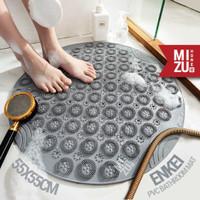 ENKEI PVC Bathroom Mat Anti Slip Keset Kamar Mandi Penghisap Suction - POND abu