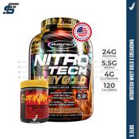 PROMO BUNDLING Nitrotech Whey Gold 5,5 lbs + Mutant Creakong 300gr