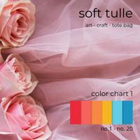 Kain Soft Tulle / Kain Soft Tile / Kain Mesh per 0.5 meter