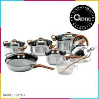 Panci Oxone OX-933 Panci Eco Cookware Set Oxone 12+2Pcs