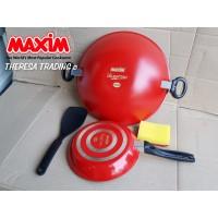 MAXIM VALENTINO SET WAJAN WOK TEFLON® 30 CM + FRY PAN TEFLON® 22 CM