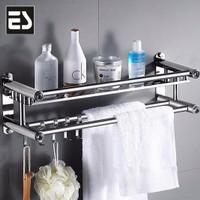 ES Rak kamar mandi rak handuk rak dinding stainless steel Rak Dapur