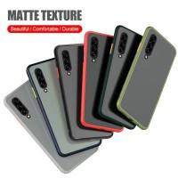 Samsung A20 A30 A30s A50 A50s A70 Case Skin Feel Matte - Hitam, SAMSUNG A20
