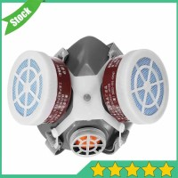 Masker Respirator Gas Mask Chemical Filter Udara Safety Half Face Mask