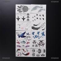 Stiker Tattoo Desain Bulu, Burung Layang-layang Anti Air Mudah Dibers