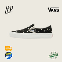 SEPATU SNEAKERS VANS VAULT OG SLIP ON LX EMBROIDERED 'BLACK' ORIGINAL