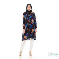 Atasan Muslim Wanita | Kaktus Tunik Hitam |S M L XL | Rayon Viscose