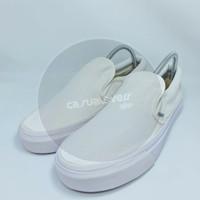 Sepatu Vans Slip On White Premium Quality - Putih, 37