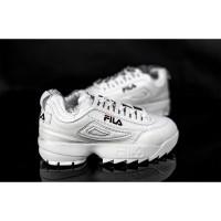 Sepatu Pria Sneakers Olahraga Wanita Lari Fashion Korea Putih S045 - 39